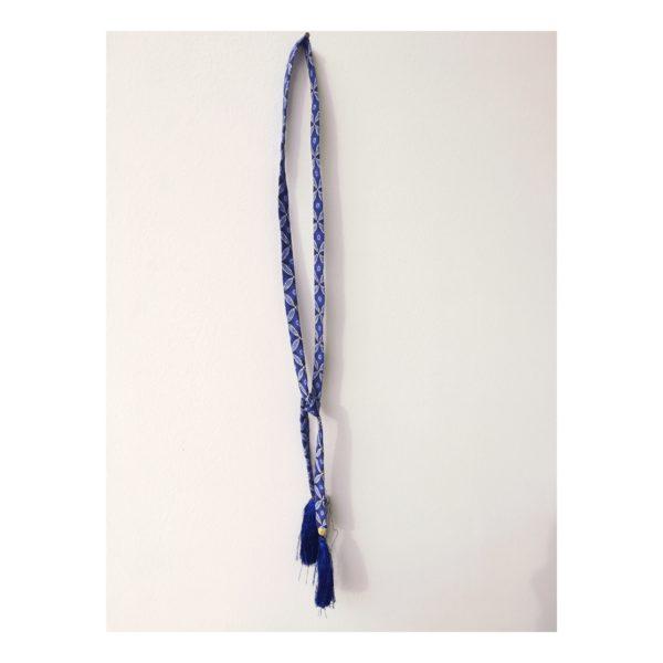 cravate bleue collection fleur Imbali bluu bijoux design afrique du Sud Paris France Création AsbyAS