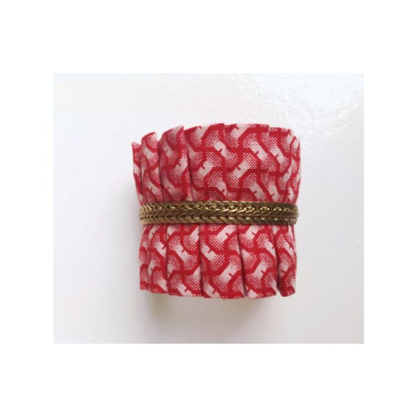 manchette rouge collection fleur Imbali nyekundu bijoux design afrique du Sud Paris France Création AsbyAS