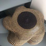 ART DESIGN GHANA par ASBYAS corbeille vagues fleurs Indigo vue du dessous bis