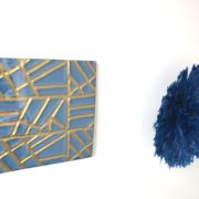 RWANDA ART DESIGN par ASBYAS COMBO VERRE BRISE ET JUJUHAT BLEU ROI
