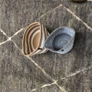 2 Corbeilles Mifuko Sisal KENYA rayée blanche marron ETblache et grise Small ASBYAS design Afrique du Sud Paris photo 2