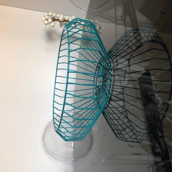 Corbeille à Fruits design métal bleu Indigi Design ASBYAS Afrique du Sud Paris photo 1