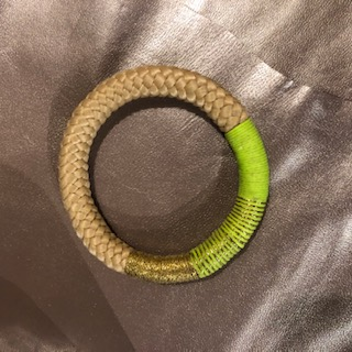 Pichulik Bracelet vert et corde Ndebele ASBYAS design Cape Town