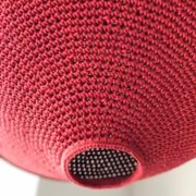 Lampe artisanale en crochet fait main detail 1
