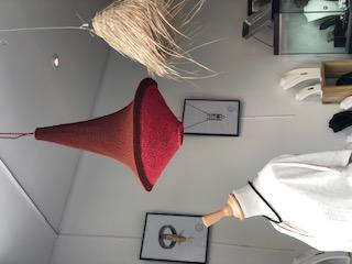 Lampe artisanale en crochet fait main