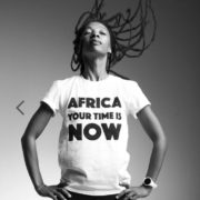 OFFRE ASBYAS PARIS AFRICA YOUR TIME IS NOW TEE-SHIRT BLANC LETRRES NOIRES 3