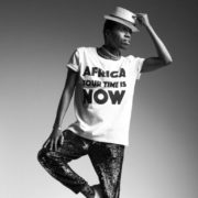 OFFRE ASBYAS PARIS AFRICA YOUR TIME IS NOW TEE-SHIRT BLANC LETRRES NOIRES 4