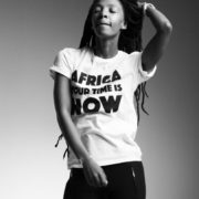 OFFRE ASBYAS PARIS AFRICA YOUR TIME IS NOW TEE-SHIRT BLANC LETRRES NOIRES 5