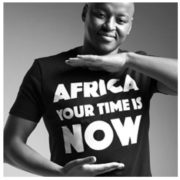 OFFRE ASBYAS PARIS AFRICA YOUR TIME IS NOW TEE-SHIRT NOIR LETRRES BLANCHES 2