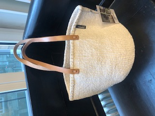 SAC Mifuko Sisal KENYA blanc ASBYAS design Afrique du Sud Paris photo